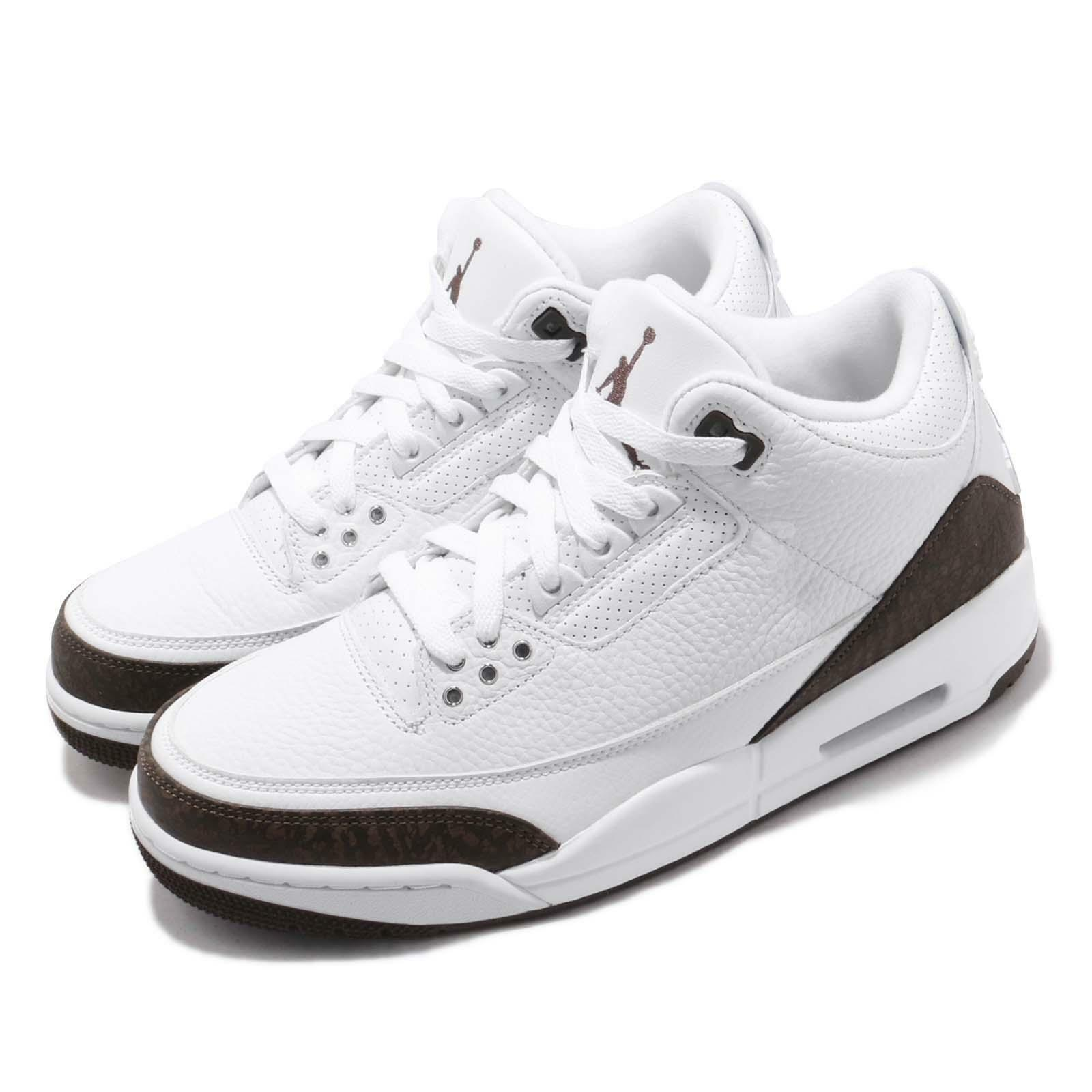 Nike Air Jordan 3 Retro Mocha 2018 III AJ3 White White White Men Basketball shoes 136064-122 04837b
