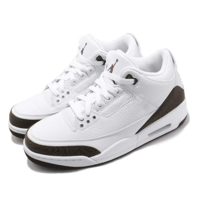 innovative design e71a7 4f5da Nike Air Jordan 3 Retro Mocha 2018 III AJ3 White Men Basketball Shoes  136064-122