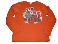 s. Oliver toller Pullover Gr. 116 / 122 orange mit Druckmotiv !!