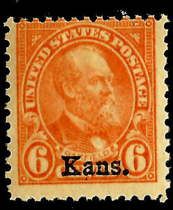 US-664-Mint-Very-Lightly-Hinged-1929-039-Kans-039-Kansas-Overprint-14d