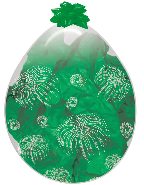 "5 x 18"" Diamond Clear Stuffing Balloons Super Stuffer Classy Wrap Keepsake"