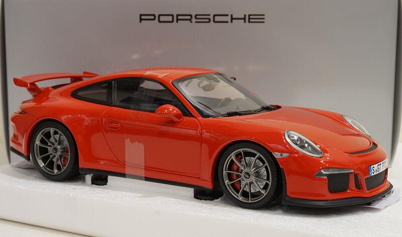 Minichamps 2013 Porsche 911 991 GT3 rosso 1 18 rara edición del distribuidor    última