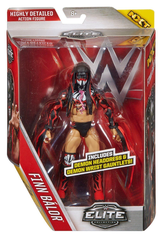 WWE FINN BALOR Elite 41 Wrestling cifra DEMONE Copricapo Guanti NXT prima