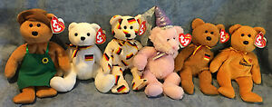 W-F-L TY Beanie Teddy Germany Exclusive Selection Niklas Mary