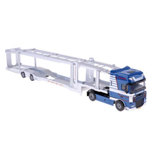 1//50 Alloy Car Transport Truck Trailer Model Pull Back for Kids Boys Playing