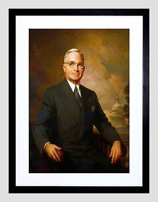Kempton Portrait President Harry Truman USA Painting Large Canvas Art Print