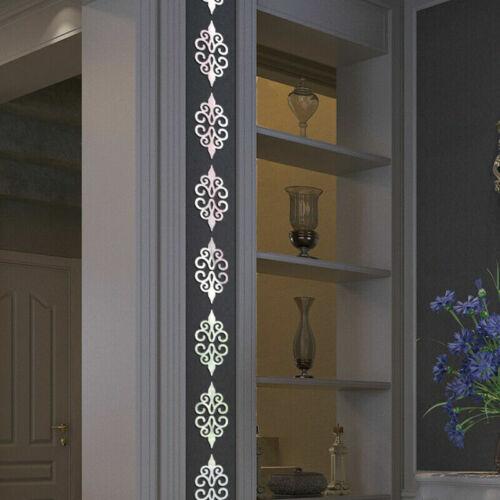 3D-Mirror Flower Removable Wall Sticker Art Acrylic Mural Decal Wall Home Decor