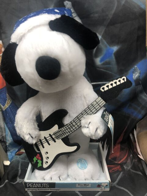 Peanuts Singing Animated Plush Snoopy with Guitar Linus and Lucy Song NEW