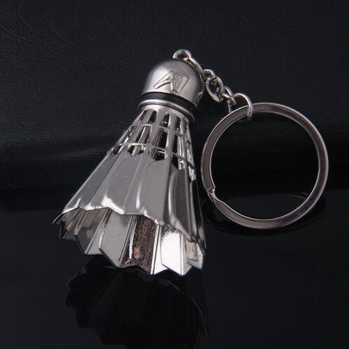 Creative Badminton Metal Key Ring Keyring Keychain Pendant Gift for Men Women