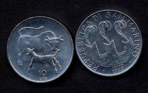 160 SAN MARINO 10 Lire 1972 FDC