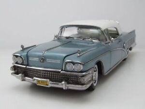 Buick '58 Limited convertible fermé dans une superbe Blue Mist échelle 1.18 Die Cast