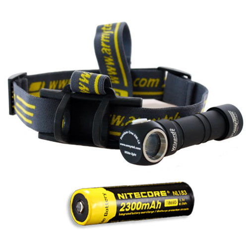 Armytek Wizard Pro V2. XM-L2 Headlamp w  NL183 Rechargeable Battery