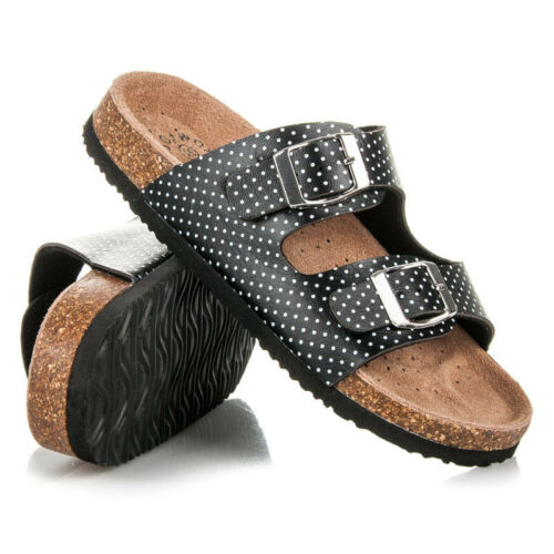 Older Girls Summer Sandal Beach Flip Flops Leather Footbed UK 12.5-2.5