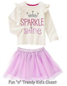 1ef361ad7f NWT Gymboree TUTU FUN Girls Size 2T Sparkle Tulle Skirt & Tee Shirt ...