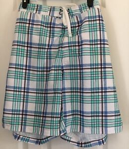 4fabb0d707 Men's Merona Target XL Swim Trunks Plaid Blue Green Teal White ...