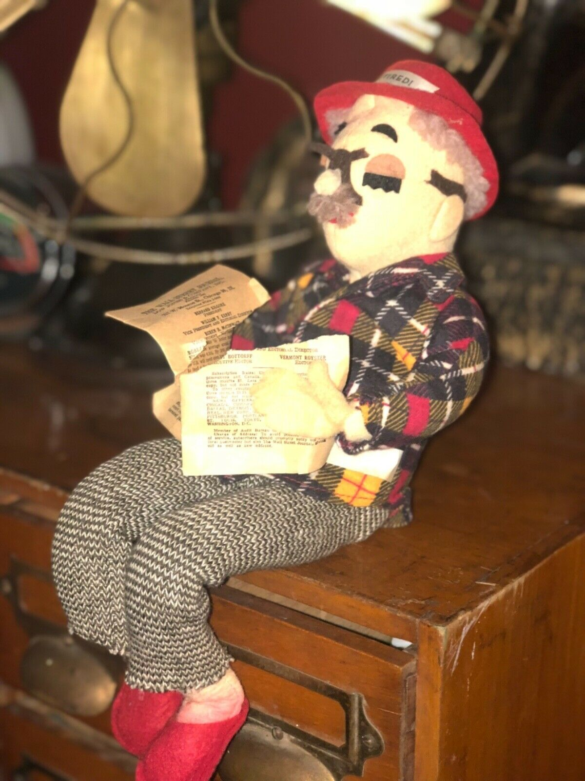 Vintage little Retired doll old man cute funny display