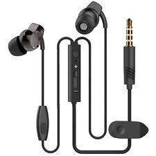BLACK IN EAR HEADPHONE EARPHONE WITH MIC FOR NOKIA LUMIA 930 630 DUAL 635 525