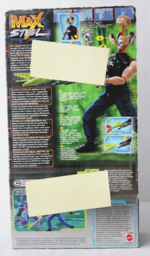 VERY RARE MAX STEEL PSYCHO EXPLOSION FIGURE MATTEL 2000 EUROPEAN NEW SEALED !