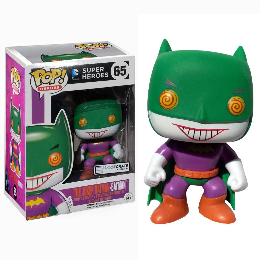 FUNKO POP SUPER HEROES DC COMICS  65 THE JOKER BATMANLOOT CRATE VINYL