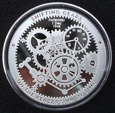 T.I.M.E. Series - Shifting Gears - 1 oz .999 Silver Proof-Like Bullion Round