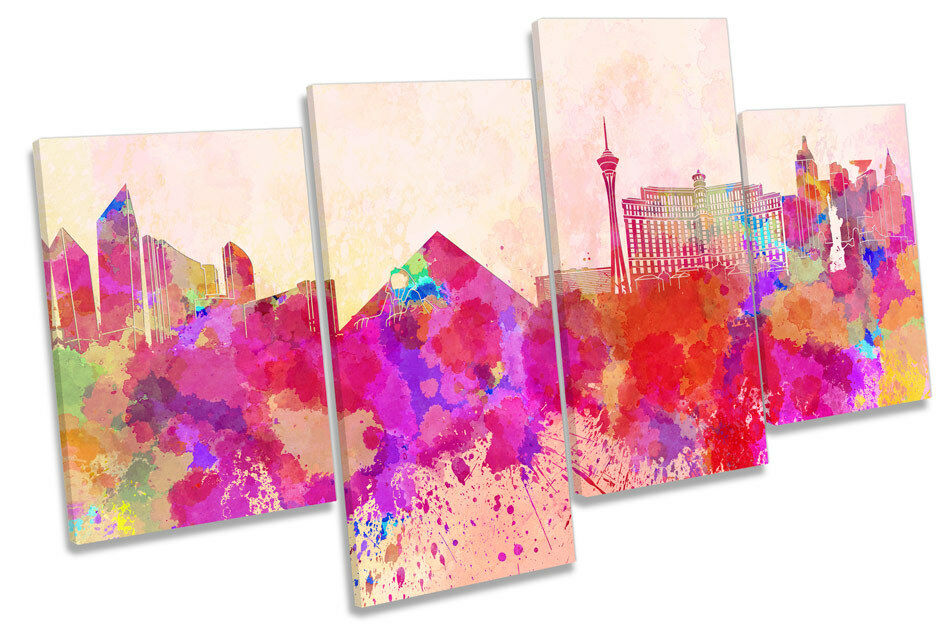 Las Vegas Skyline City Modern MULTI CANVAS WALL ART Boxed Framed