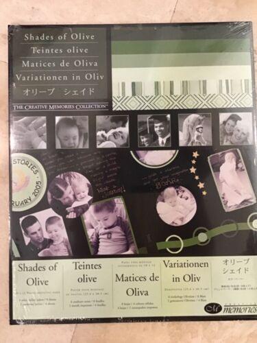 CREATIVE MEMORIES SCRAPBOOK PAPER SHADES OF OLIVE 12 10 X 12  NIP