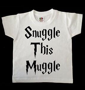 SNUGGLE THIS MUGGLE HARRY POTTER CHILD //TODDLER T SHIRT WHITE,