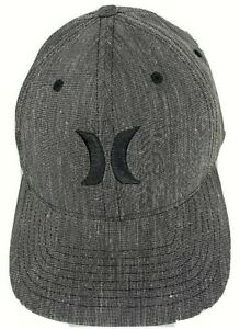 Hurley-FlexFit-Graphite-Black-Embroidered-Logo-Size-S-M-BRAND-NEW