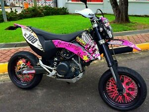 Image Is Loading Supermotard SPOKE COATS MX COLORED SPOKES Skins Covers