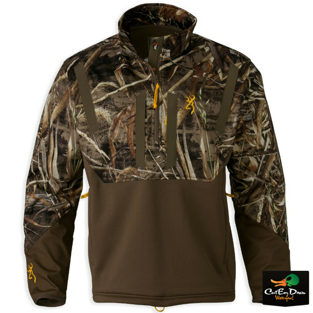 marrónING WICKED WING Madera Soft Shell 1 4 Cremallera Suéter MAX-5 Camo 2XL