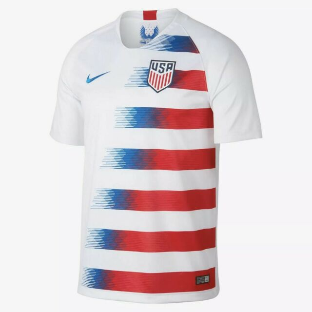 quality design 4acb9 7d63c Nike 2018 USA Stadium Home Men's Soccer Jersey 893902-100 White Authentic  SMALL