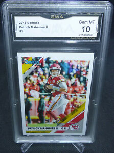 2019-Panini-Donruss-Patrick-Mahomes-II-Card-1-GMA-Graded-Gem-Mint-10-CHIEFS