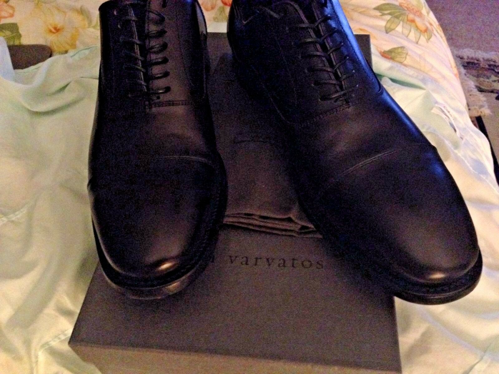 628.00 JOHN VARVATOS Leather Oxfords hand made in Italy size 11