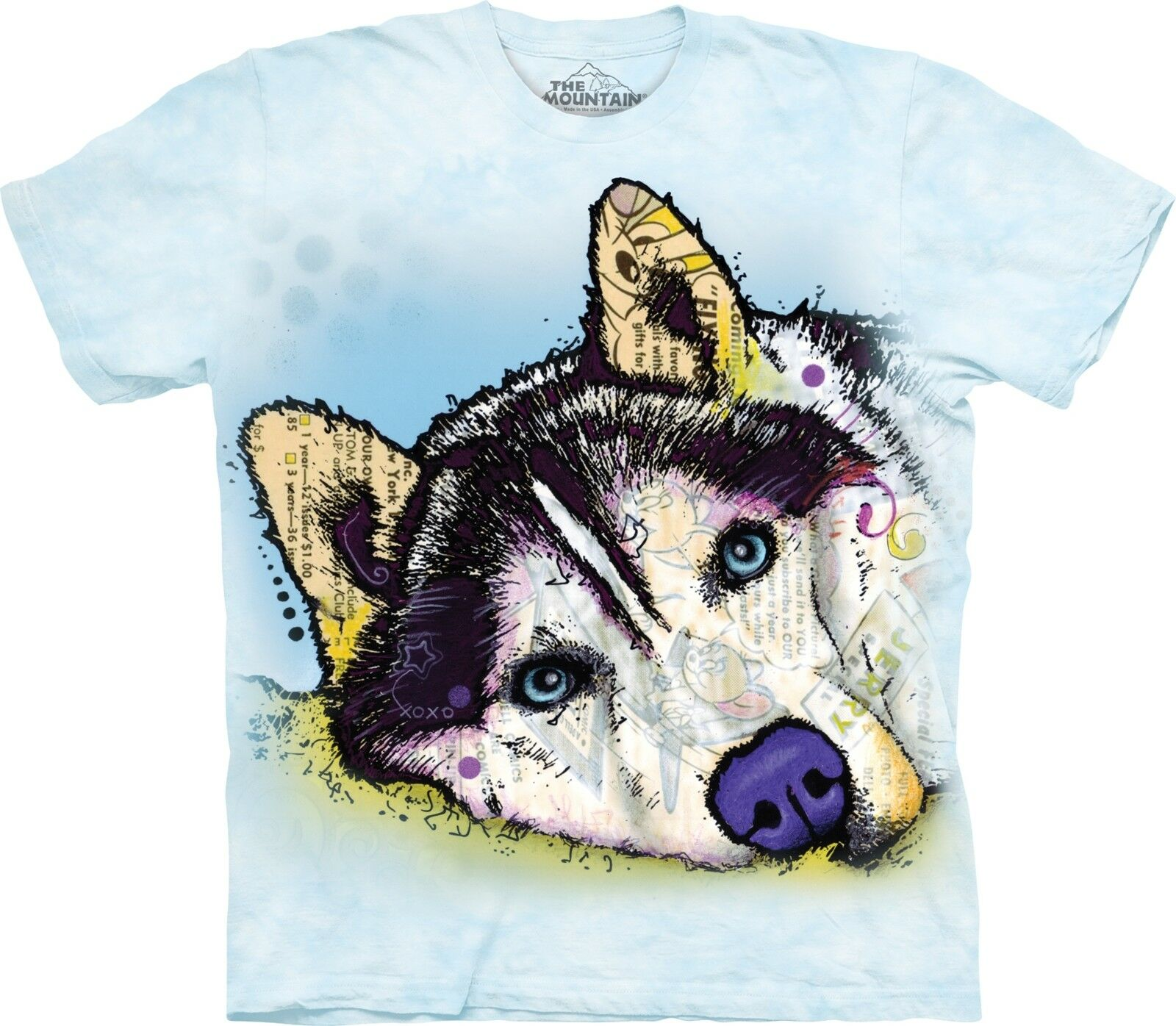 The Mountain Unisex Adult Siberian Husky Dean Russo T Shirt