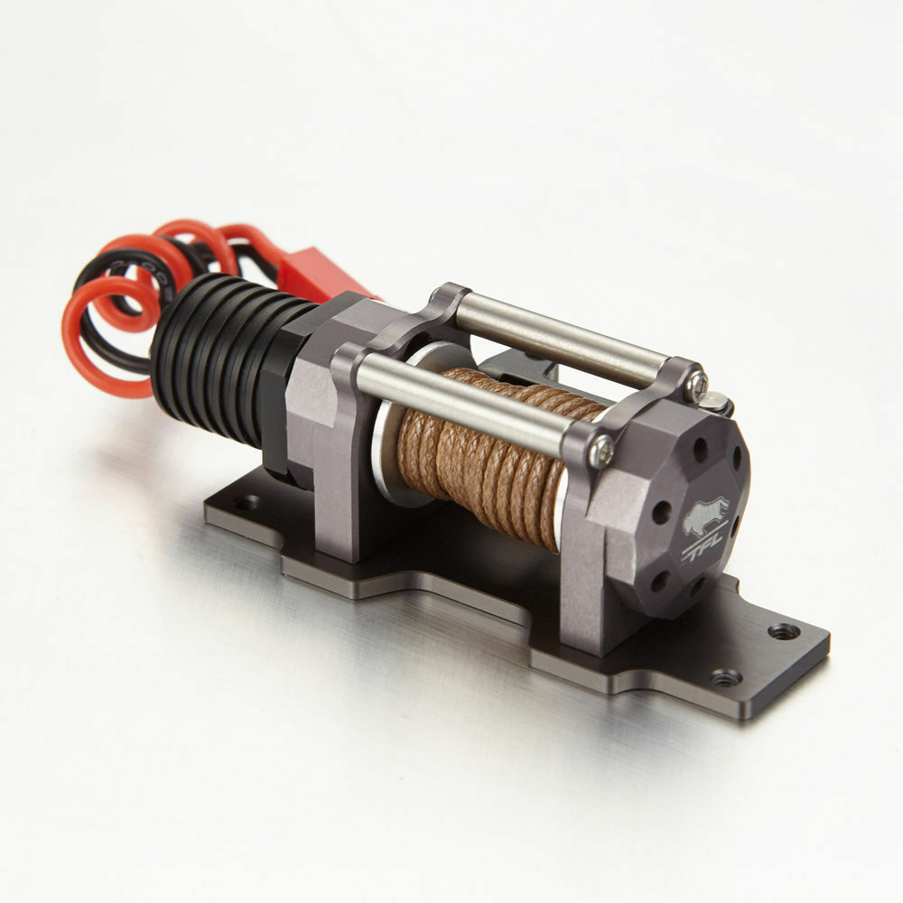 1 10 10 10 Electric Scale RC Model Crawler Car Accessory Metal Winch Remote Controller f46219