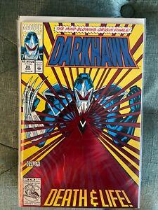 Darkhawk #25 1992 Origin Issue Foil Cover NM Beauty!!