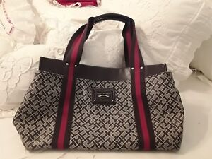 ff045052607679 Image is loading TOMMY-HILFIGER-LADIES-SIGNATURE-Shopper-Tote-Satchel-Purse-