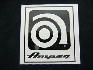 Amical Ampeg Bass Amplificateur De Guitare Autocollant Decal Case Rack Autocollant Nouveau-afficher Le Titre D'origine