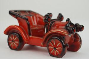 60er Vintage Cortendorf Oldtimer Keramik Auto Figur MidCentury orange 70er