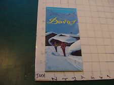 HIGH GRADE brochure: 1979 DAVOS w map inside, Hotels and other info booklets