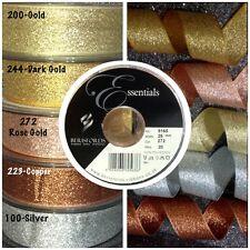 Berisfords Metallic LAME Glitter Sparkly Wedding Craft Christmas Ribbon