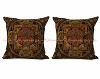 Us Seller- Set Of 2 Cushion Cover Tibetan Buddhism Mandala Decorative Pillow