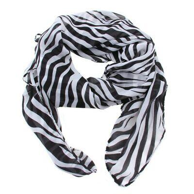 2019 Moda Donna Ragazze Moda Sciarpa In Chiffon Nero E Bianco Zebra Stampa Animale-mostra Il Titolo Originale Funzionalità Eccezionali