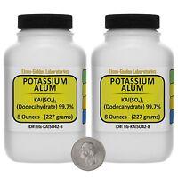 Potassium Alum [kal(so4)2] 99.7% Acs Grade Powder 1 Lb In Two Bottles Usa