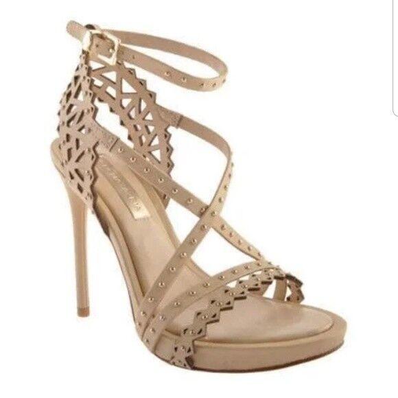 Brand New   BCBG MAX AZRIA Esra POWDER nude WOMEN'S Sandals HEELS shoes sz 8.5m