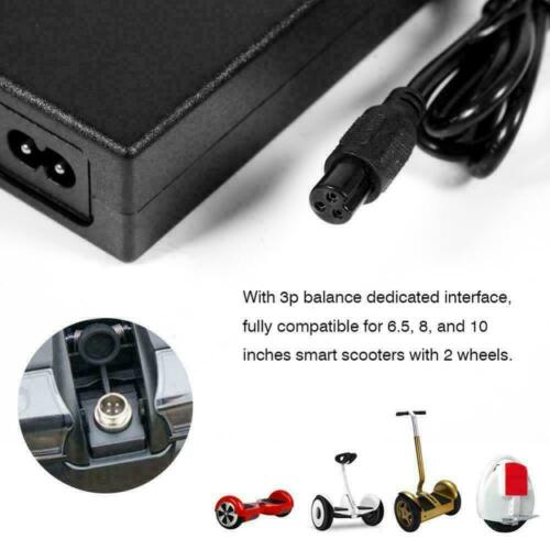 42V 2A UK Plug Charger Power Adapter For Segway//Hoverboard Balance Board Fast