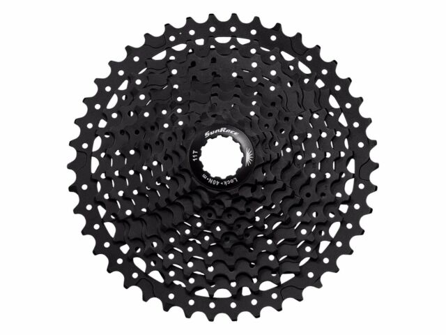 Sunrace 10-speed cassette CSMS3 wide ratio MTB 11-40T or 11-42T in black