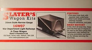 Slaters-16W07-War-Department-A-Class-Wagon-Kit-16mm-Scale-32mm-Gauge-T48-Post