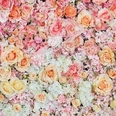 8x8FT Vinyl Wall Photography Backdrop,Dusty Rose,Branches and Blossoms Background for Baby Birthday Party Wedding Studio Props Photography