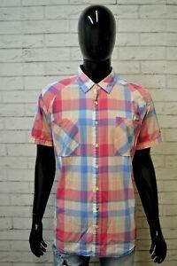 Camicia-Quadretti-Uomo-TOMMY-HILFIGER-Taglia-L-Maglia-Polo-Shirt-Men-Cotone